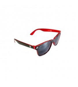 Sonnenbrille schwarz/rot