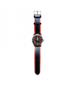 Armbanduhr schwarz-rot