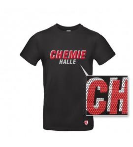 T-Shirt Chemie Halle schwarz
